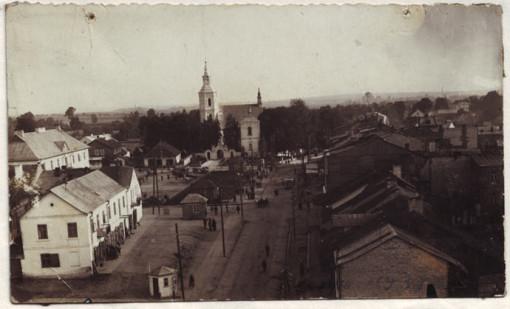 Widok z wieży kościoła św. Katarzyny, ok. 1939 - www.szczebrzeszyn.net